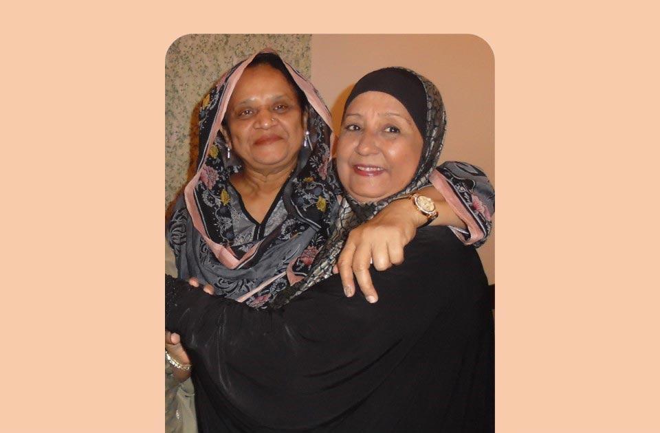 Mrs. Qutub Khan and Mrs. Shafiq Khan