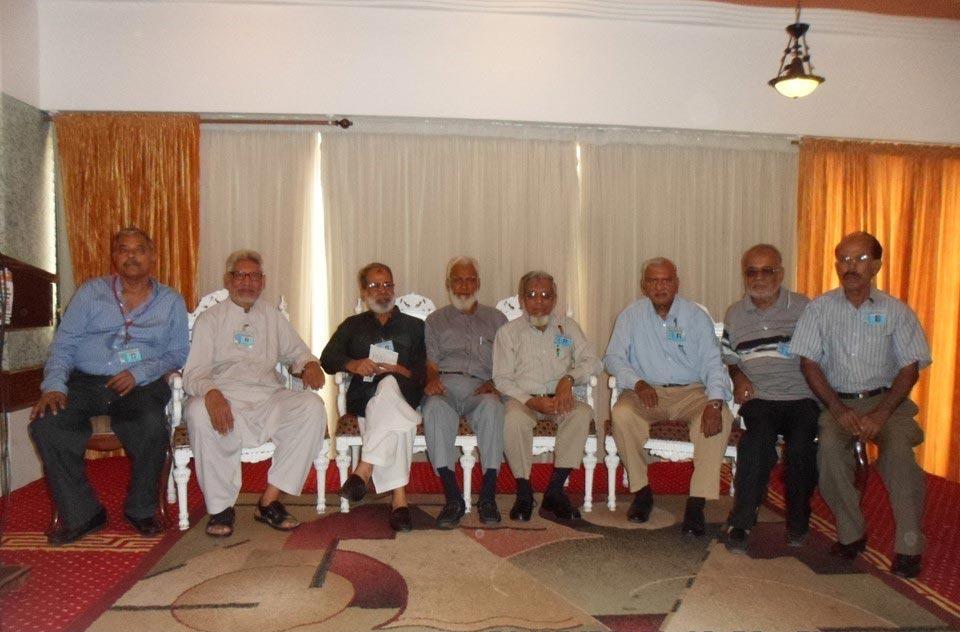 L to R: (Managing Committee Members) Arif Qmar, Salim Hamid, Shahid Ali, Kamal Farooqi, Iqbal A. Khan, Ghulam Qutubuddin Khan, Mohmmad Abdulmatin and Shafiq A. Khan