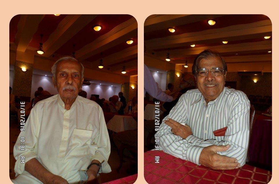 L to R: Habib Nabi Khan and Ateeq Ur Rehman Khan