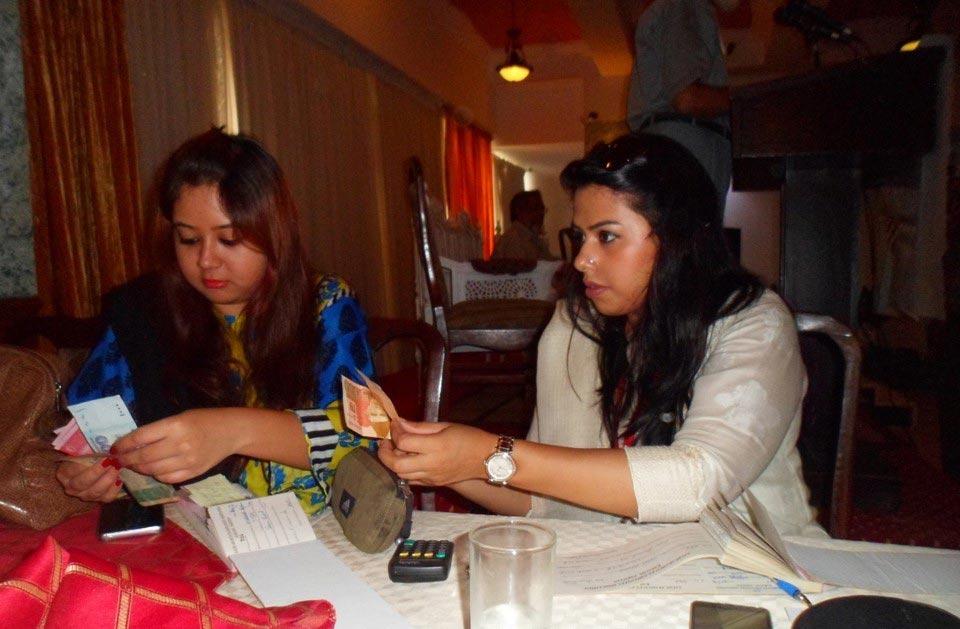 L to R: Dania Matin and Isra Arif ( Receiving Membership )