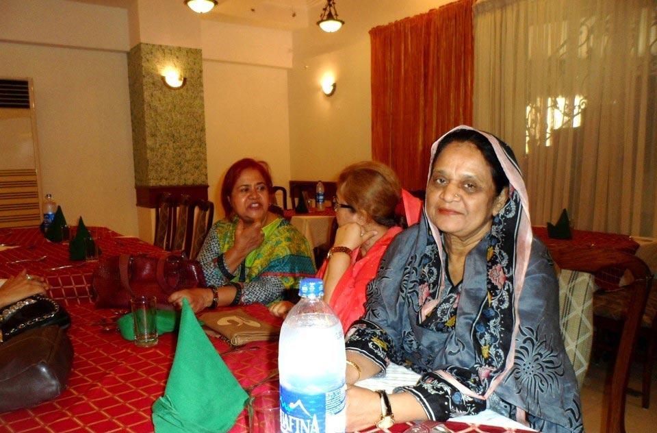 L to R: Mrs. Abdulmatin, Mrs. Arif Qamar and Mrs. Qutub Khan