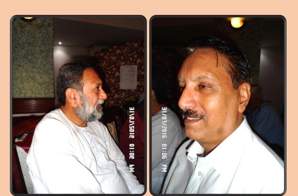 L to R: Dr. Saleem Siddiqui and Dr. Maqbool Hussain