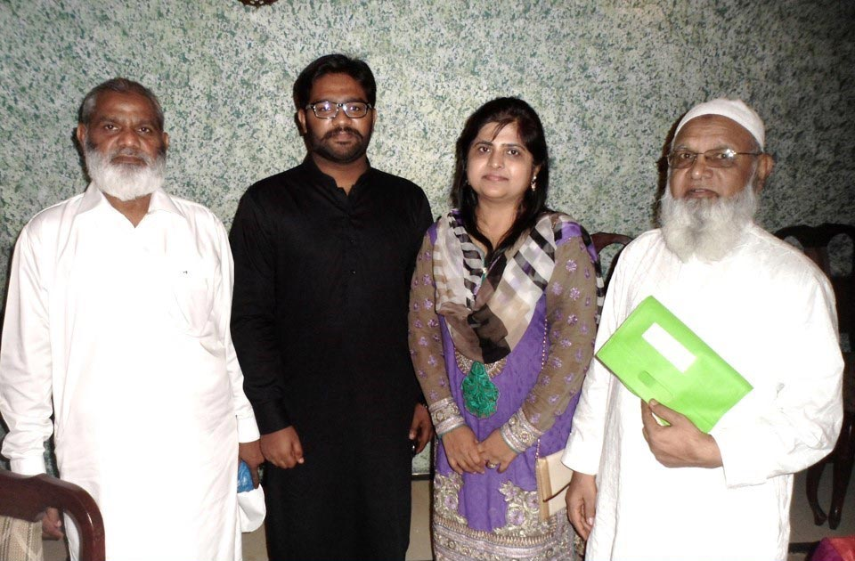 L to R: Khaliluddin Quraishi, Monis Khalil Quraishi, Dr. Sobia Quraishi and Atauddin Quraishi
