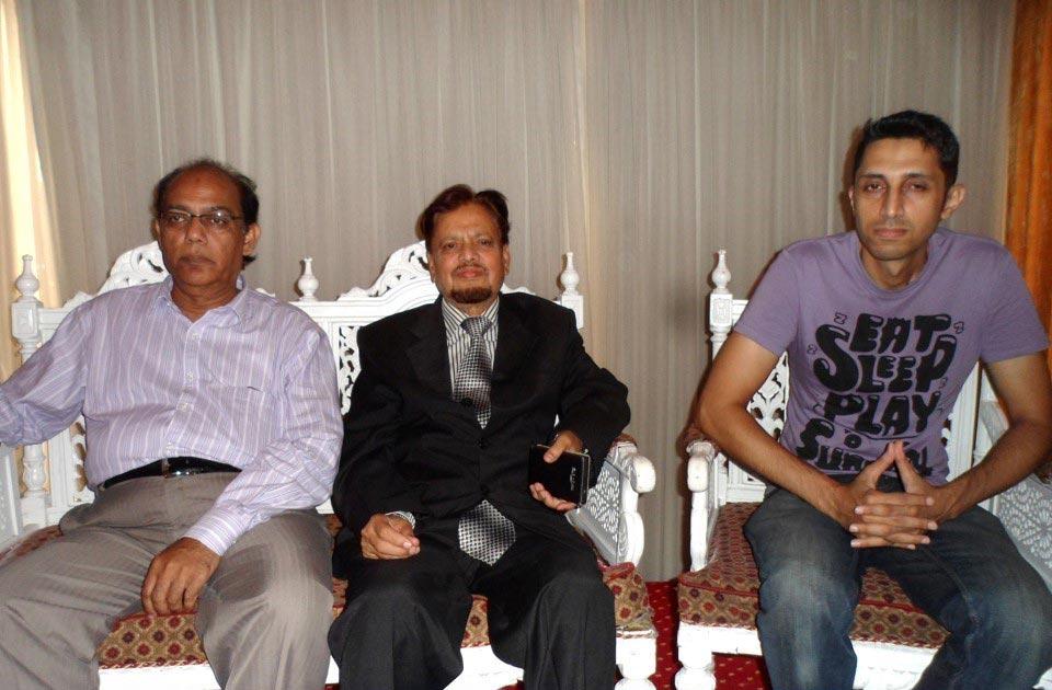 L to R: Abdul Sattar, Mir Hidayatullah and Talha Aslam