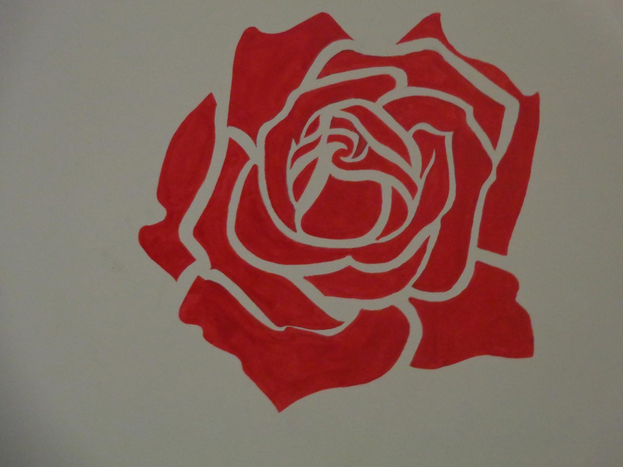 A nice painting of Rose Flower