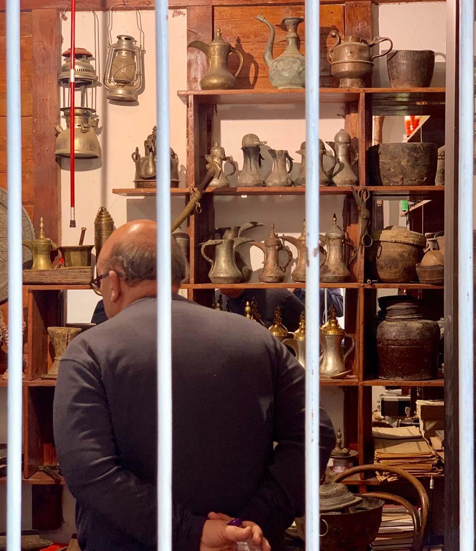 Antiques at Muftaha Art Village. © Mark Lowey.