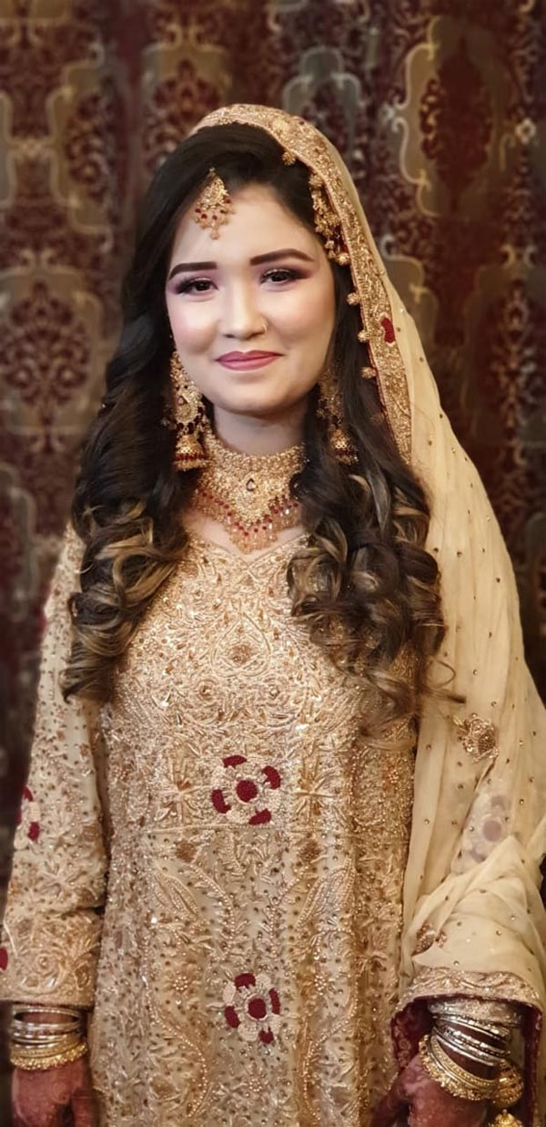 The bride Sahrish Tabassum Saleem