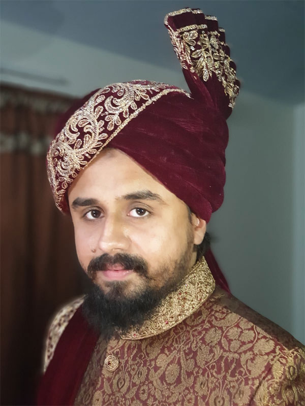 The bride groom Shabeel Ahmed Khan