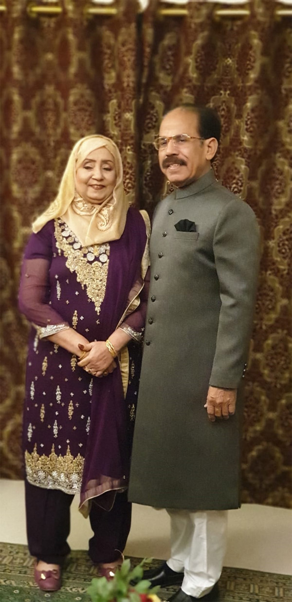 Mr. Shafiq Ahmed Khan and Mrs. Shahnaz Shafiq, parents of the bride groom