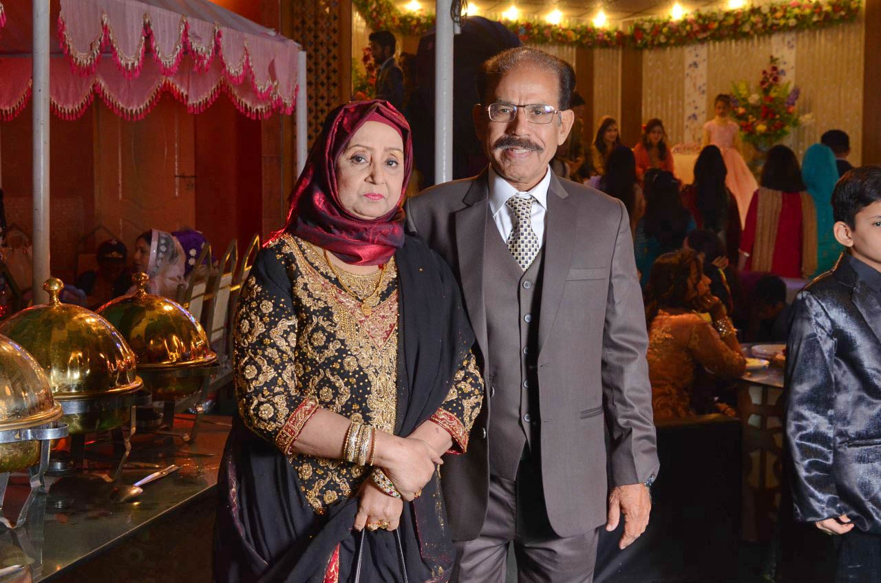 Mr. & Mrs. Shafiq Ahmed Khan on Valima reception day