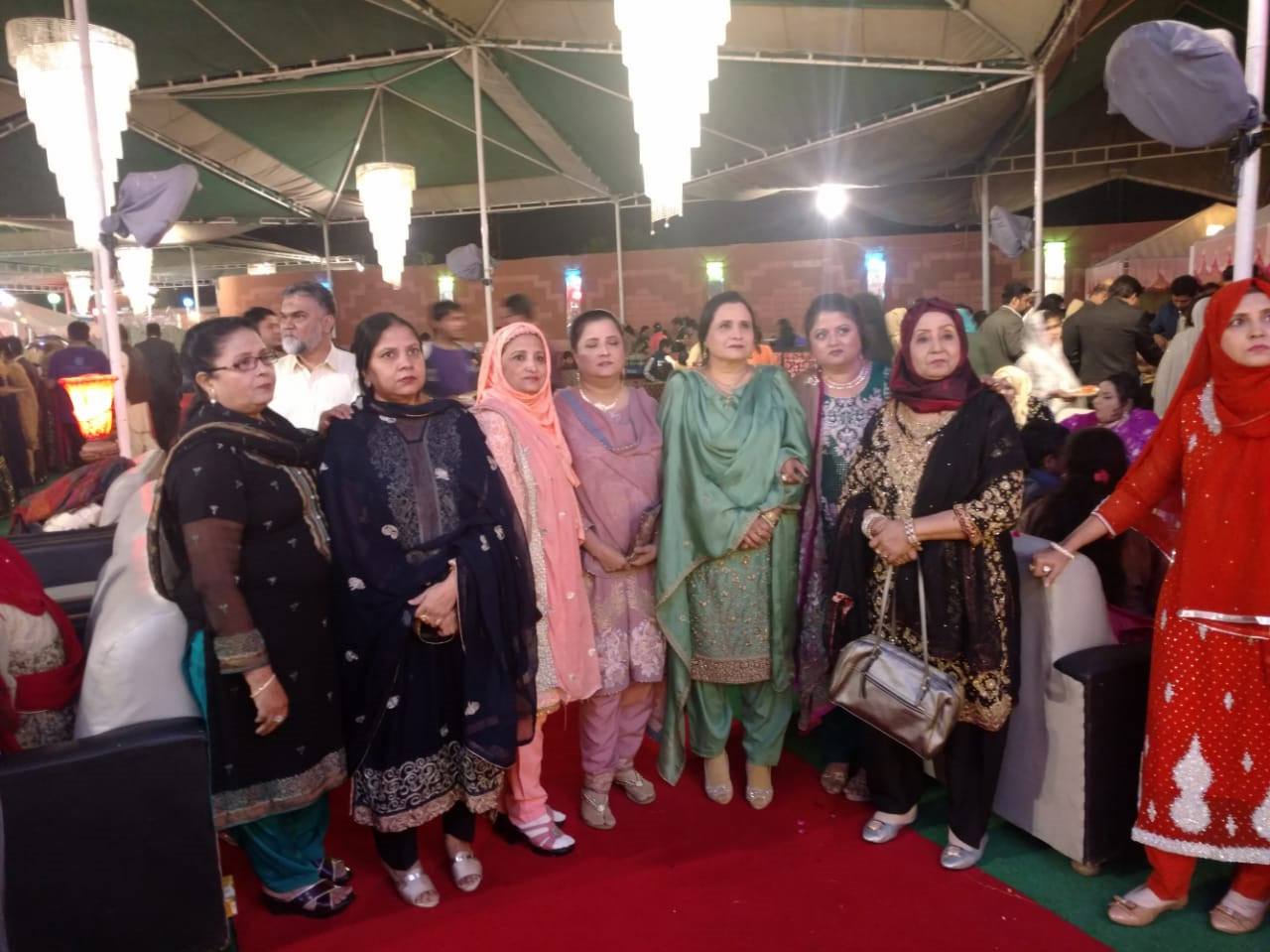 The relatives ladies with the of bride groom mother Mrs. Shahnaz Shafiq