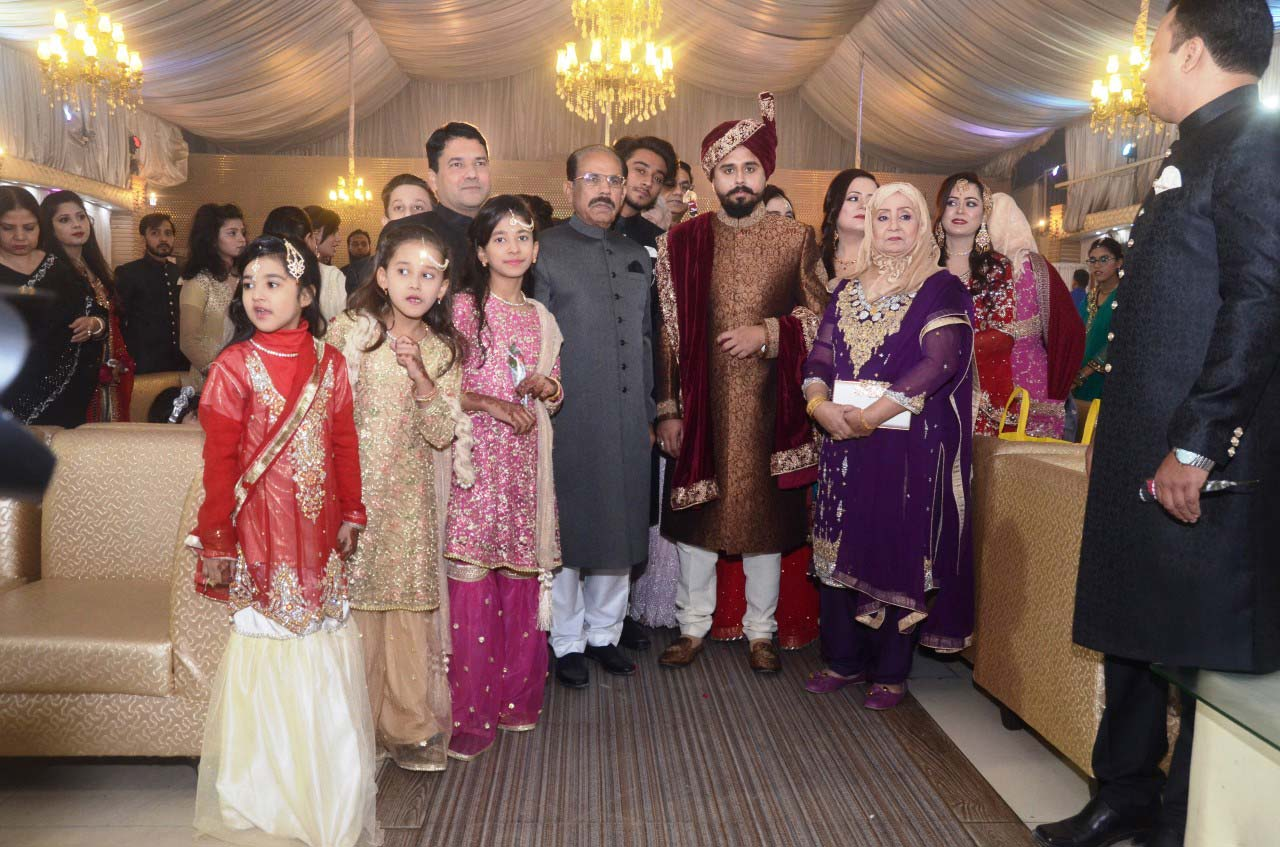 The family of the bride groom arrived at the Nikah Reception Hall headed by Shafiq Khan