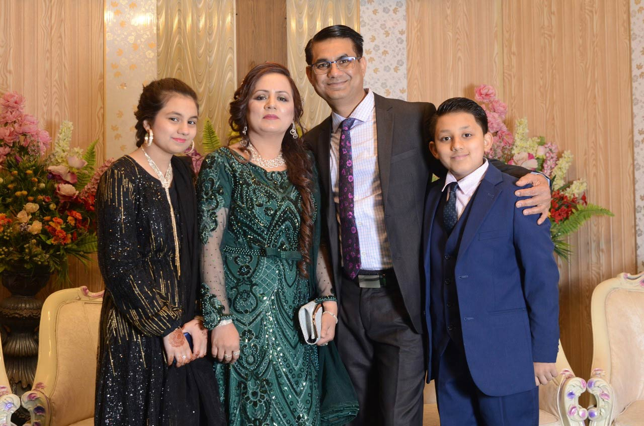 Mr. Rizwan Khan and family at the valima reception, came from Australia to attend the wedding