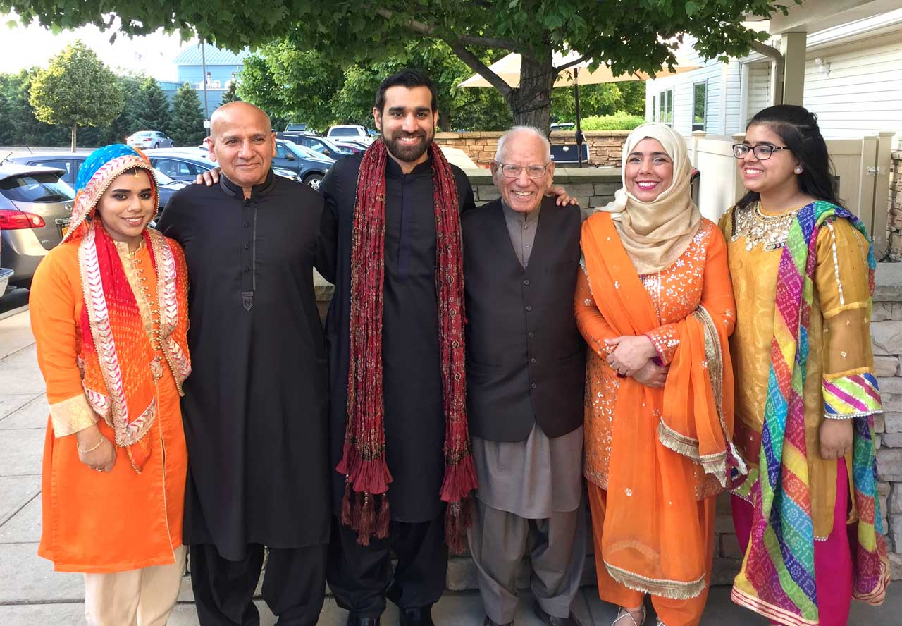 Shaikh Amin with his son Shahid's family and grandson Hammad (groom) getting ready for pre-wedding Mehndi ceremony Pix