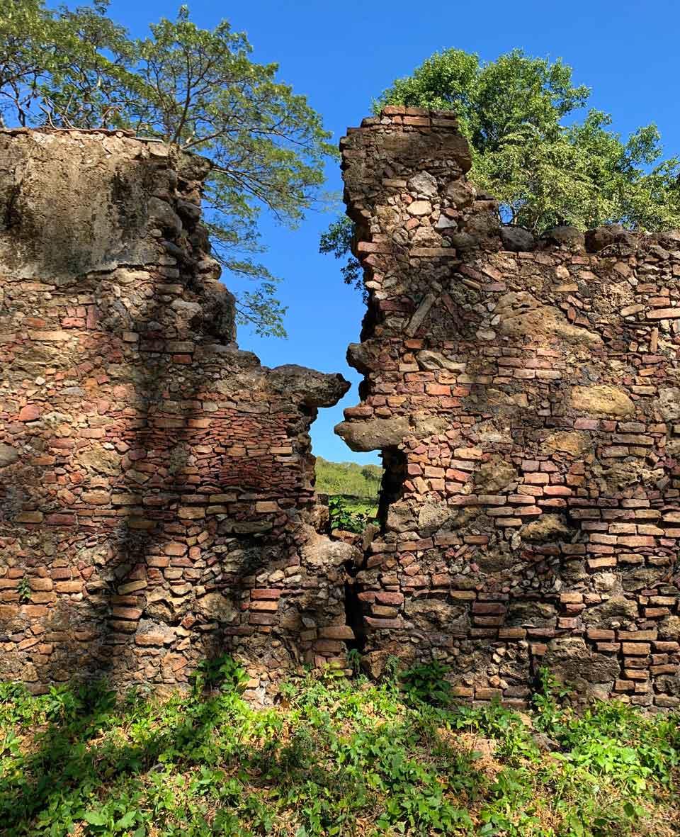 Ruined wall.