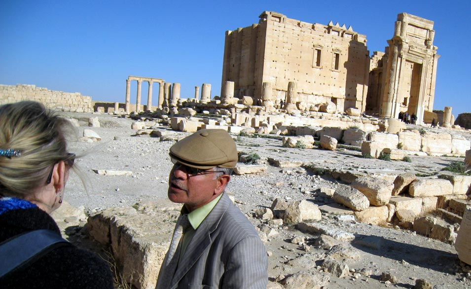 Our tour guide at Temple of Bel. © Mark Lowey 2021. All rights reserved.