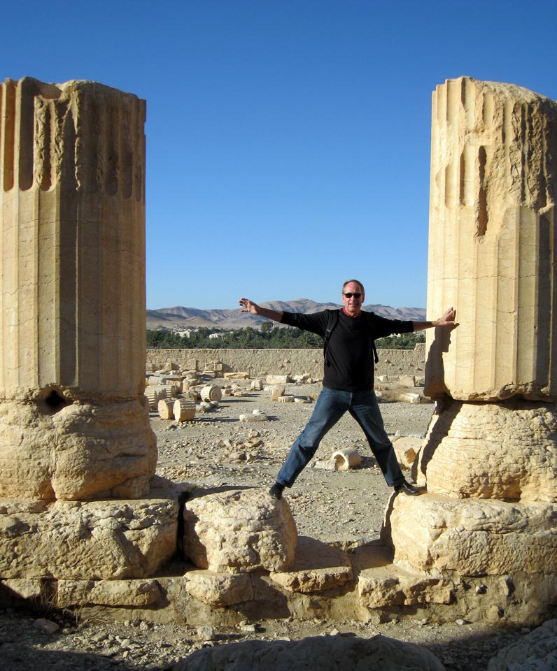 The author at Temple of Bel. © Mark Lowey 2021. All rights reserved.