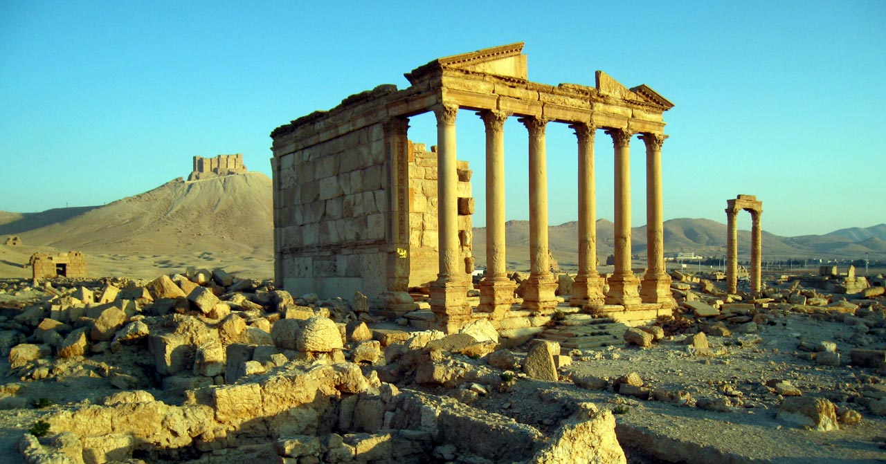 A temple on the outskirts of Palmyra. © Mark Lowey 2021. All rights reserved.