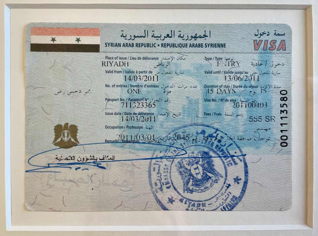 15-day Single-Entry Visitor Visa. © Mark Lowey.