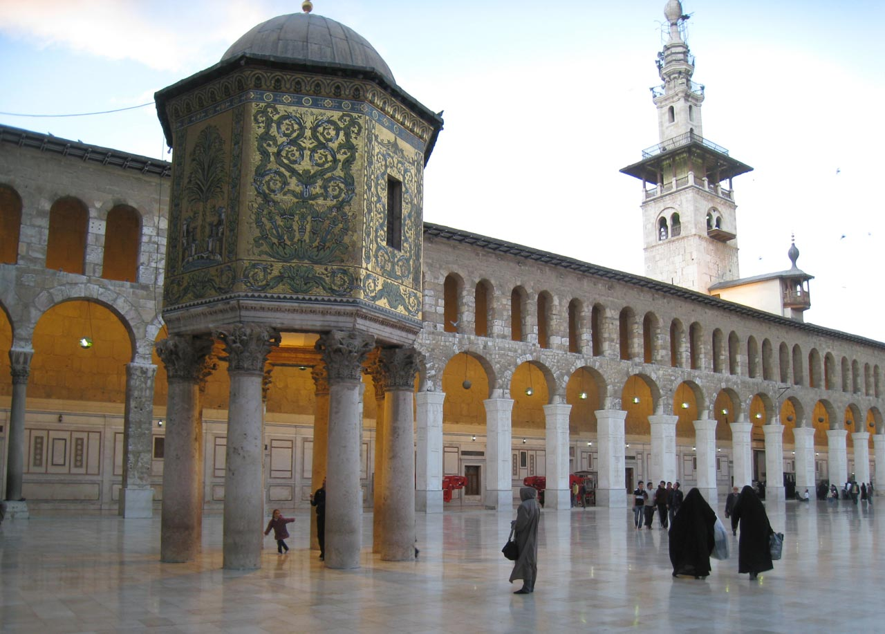 In the mosque's courtyard, the Treasury, built in 778 AD. © Mark Lowey.