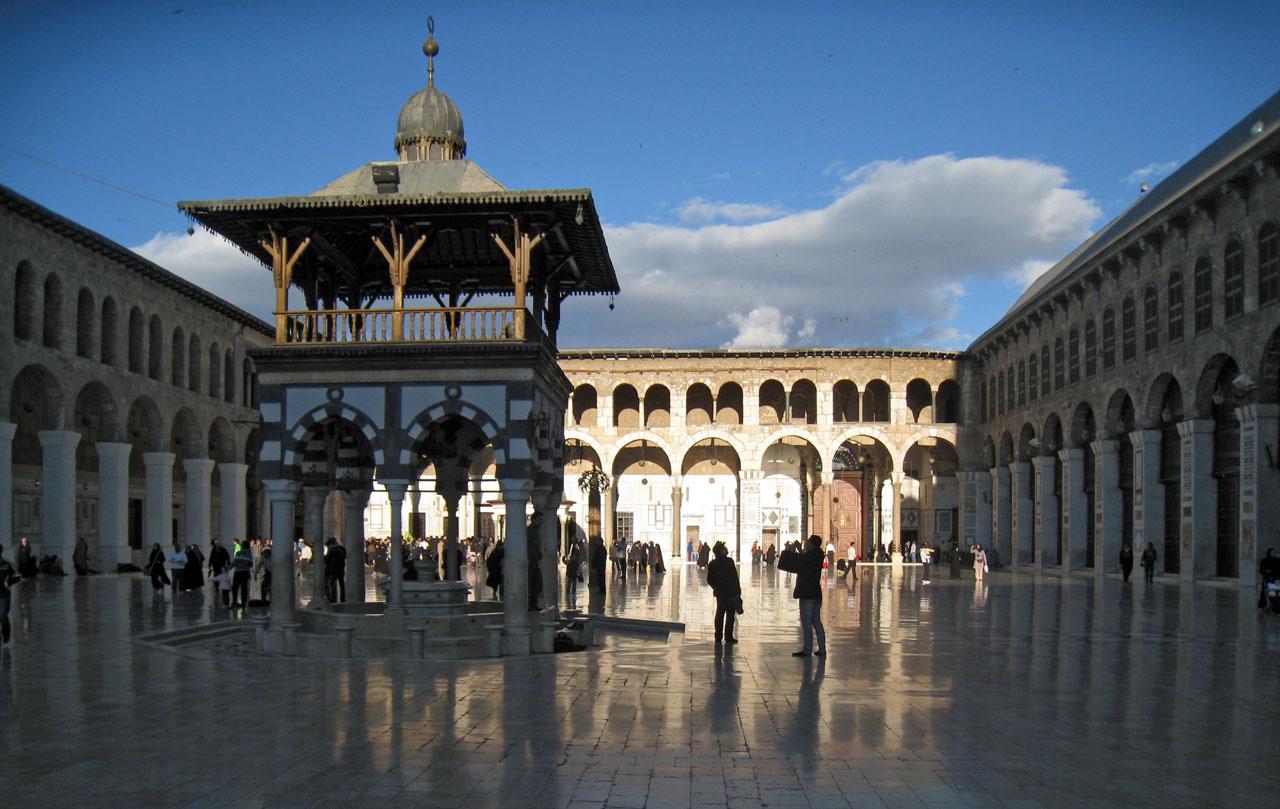 Umayyad Mosque ablution fountain. © Mark Lowey.