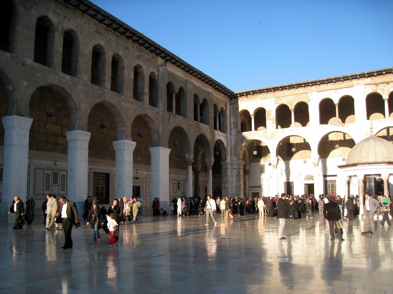 Umayyad Mosque courtyard. © Mark Lowey.