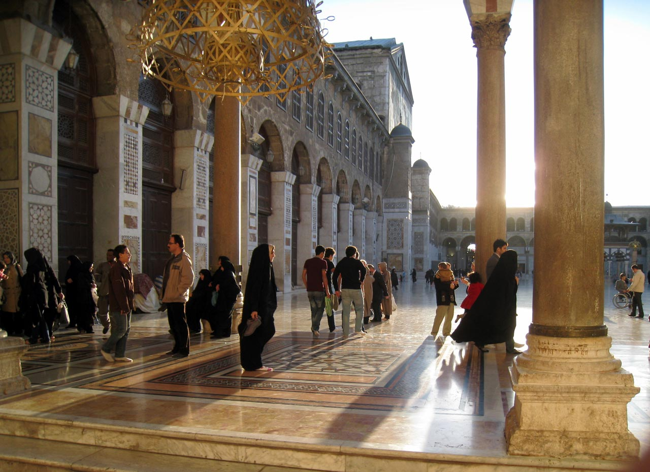 The forecourt of Umayyad Mosque. © Mark Lowey.