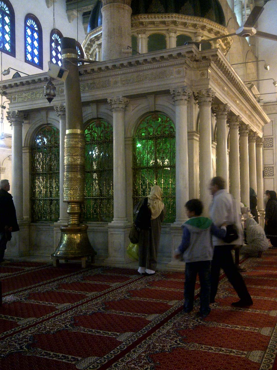Umayyad Mosque prayer hall. © Mark Lowey.