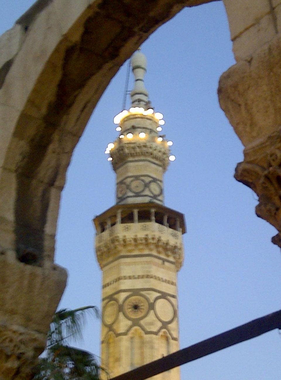 Umayyad Mosque minaret. © Mark Lowey.