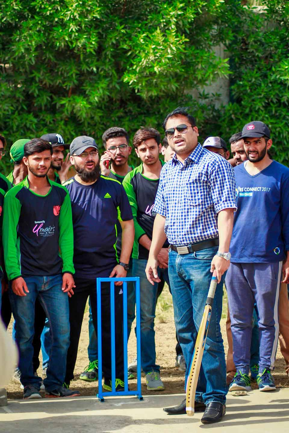 Mr. Rehan Hashmi, The EX-MNA (Member National Assembly) and The Chairman Central KMC (Karachi Municipal Corporation), Inaugurating the Game of Day-02