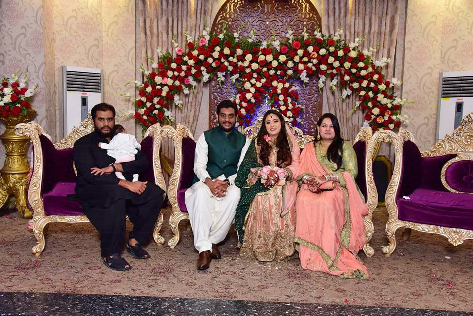 Engr. Taha Khan and Samia Siddiqui with Engr. Bilal Ahmed Khan (Elder Brother of Taha Khan), Mrs. Faryal Khan and Baby Ayra Khan