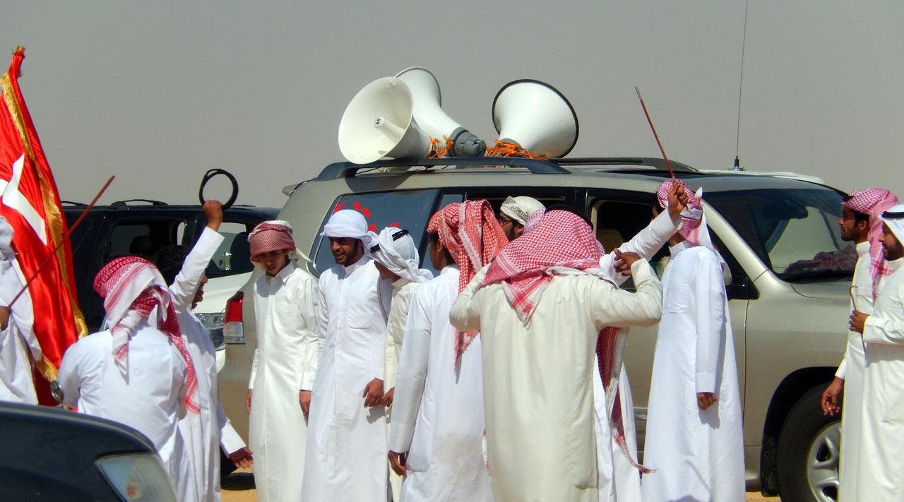 The Al Zayeds' jubilant celebration. © Mark Lowey