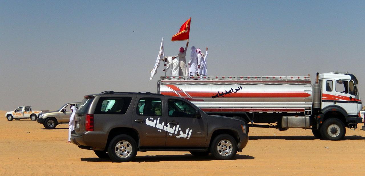 Al Zayed victory procession. © Mark Lowey