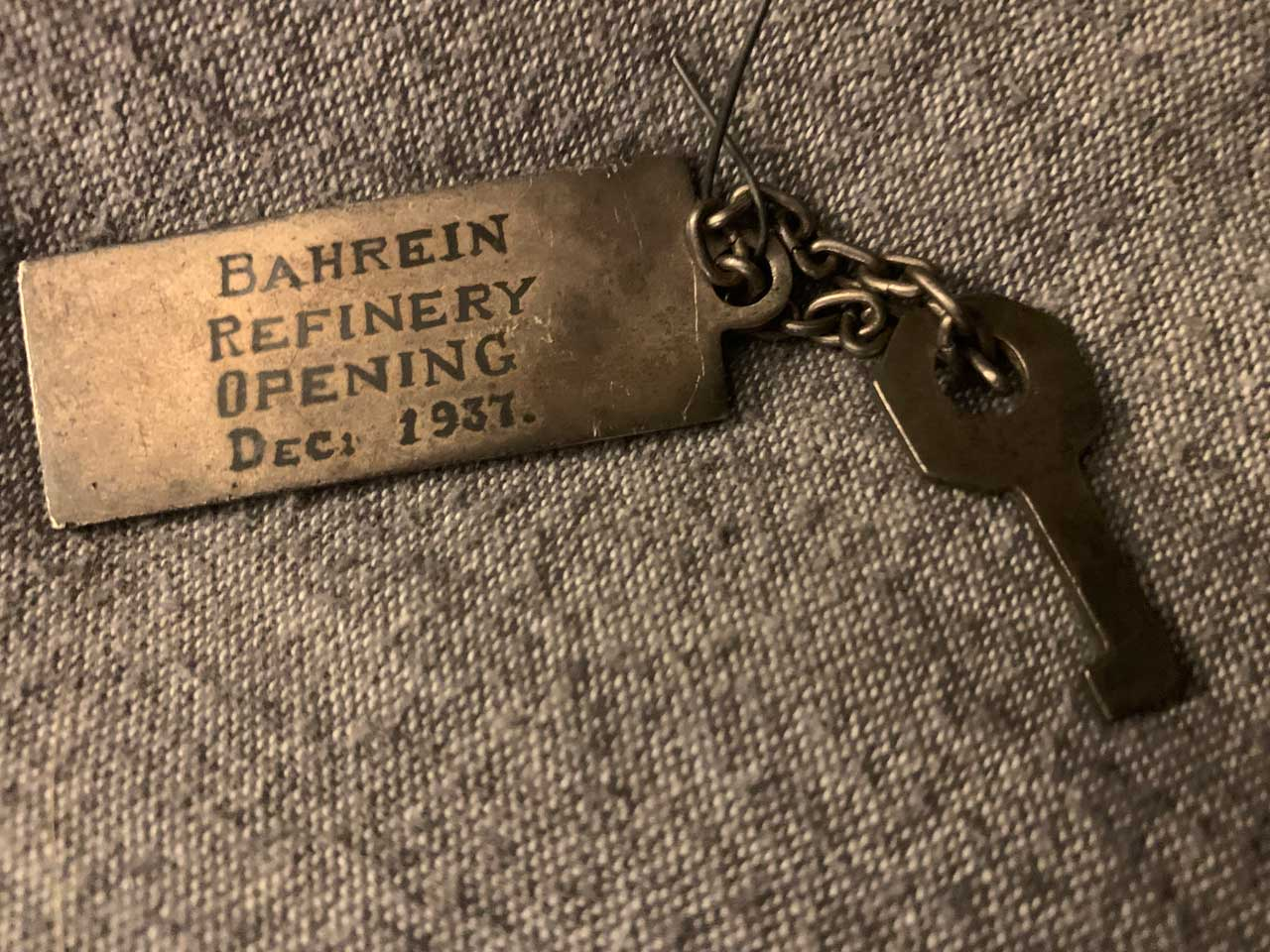 This key is from the Bahrain refinery opening.