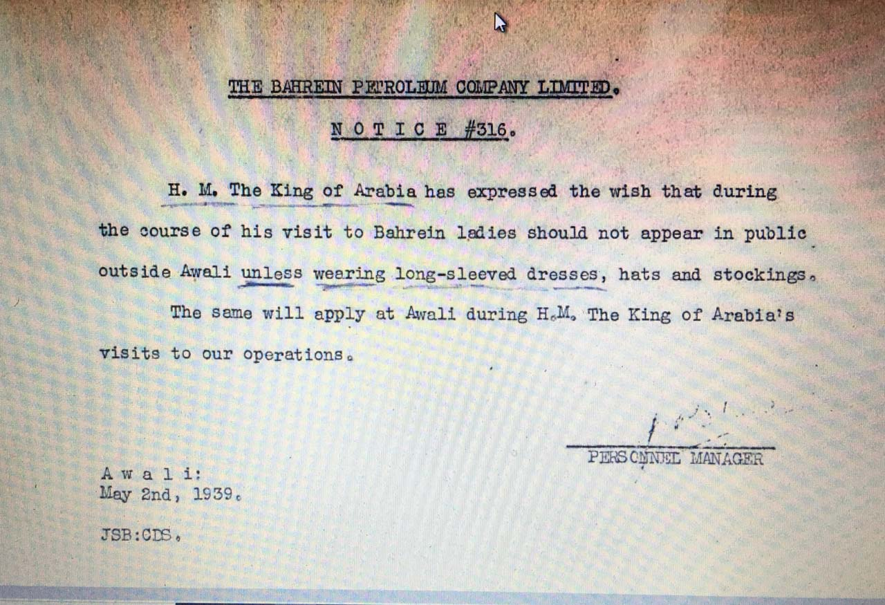Ibn Saud's 1939 visit.