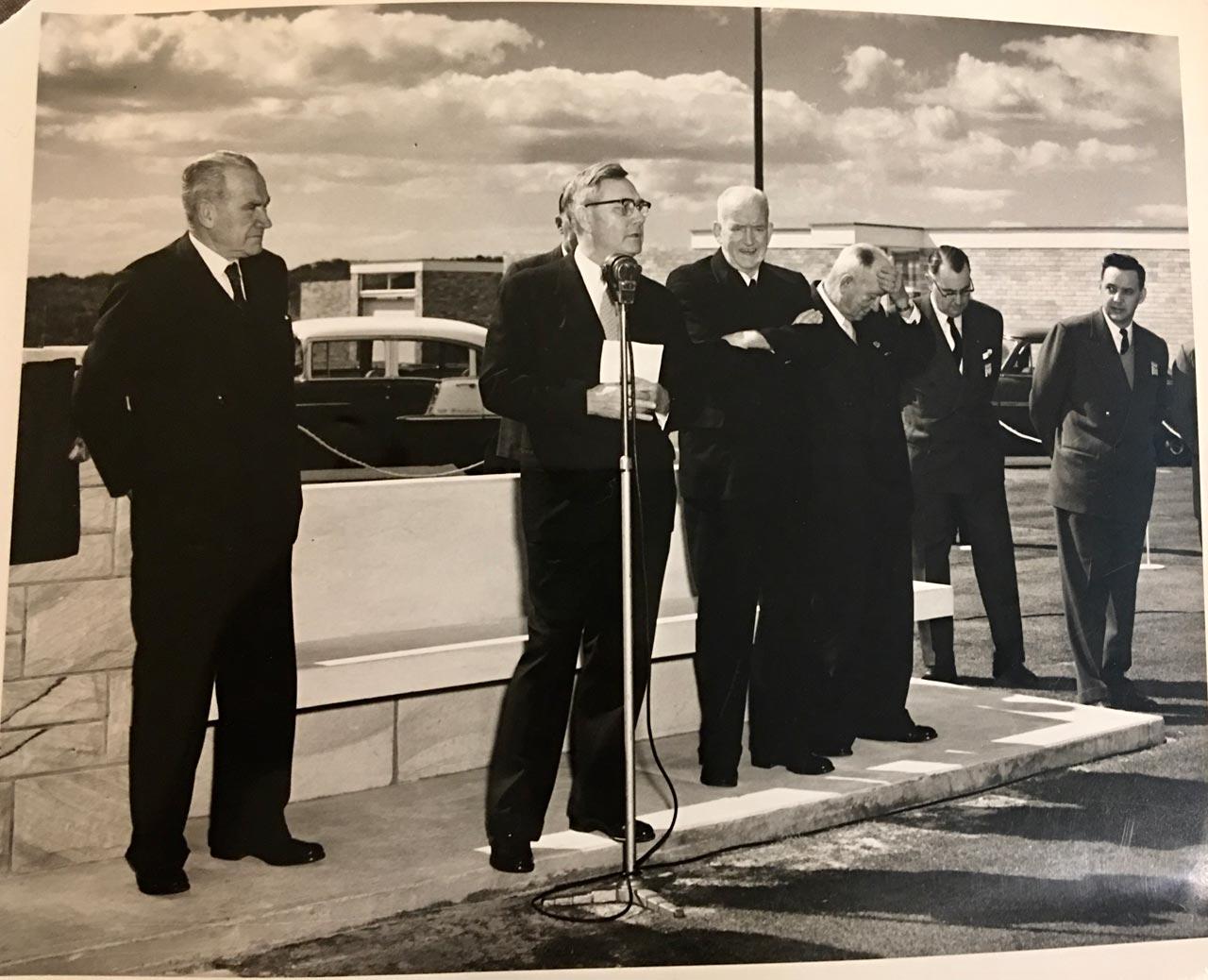 Opening Kurnell refinery. Australia, August, 1956.