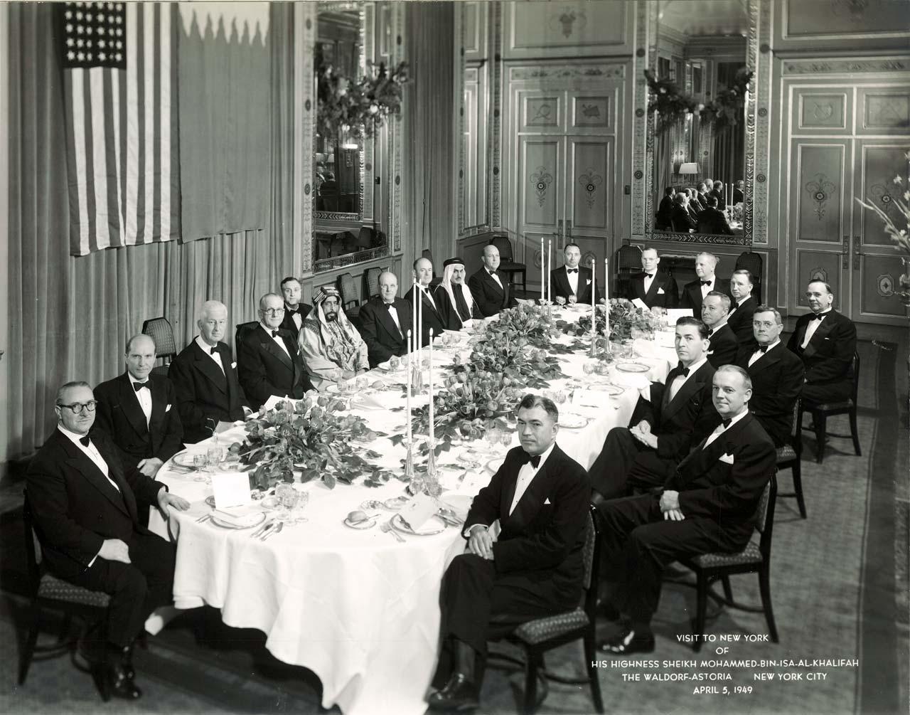 Dinner: New York, 1949.