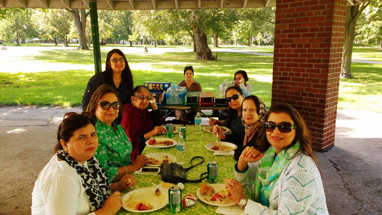 From L to R: Khalida Masroor Khan, Tazeen Kidwai, Nuzhat Waheed and her mom, Farida Hamid, Farzana Sheikh, Nahid Ziauddin, Khalida Salman Khan, and Nabila Naeem