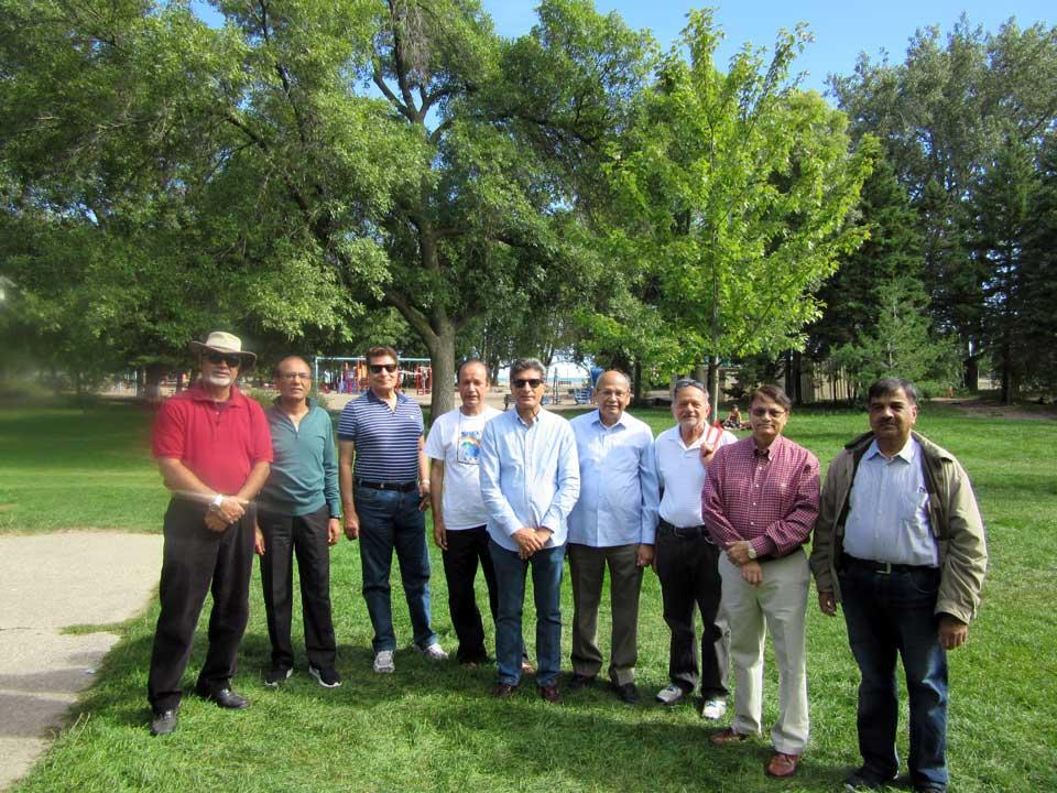 From L to R: Nauman Waheed, Sheikh Yousef, Asim Kidwai, Masroor Khan, Shahid Naeem, Zia Ziauddin, Syed Haider, Salman Khan, and Mohammed Masroor