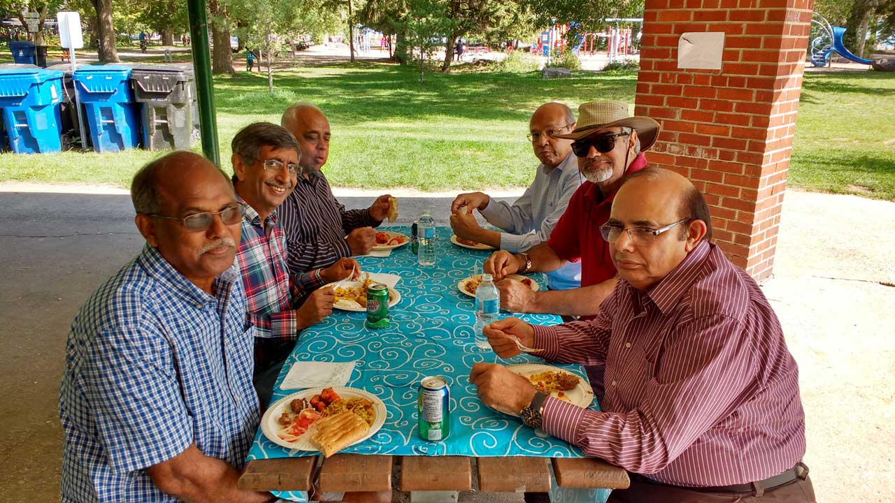 From L to R: Wilfred Carvalho, Farouk Khory, Mohamed Patel, Zia Ziauddin, Nauman Waheed, and Javaid Hamid