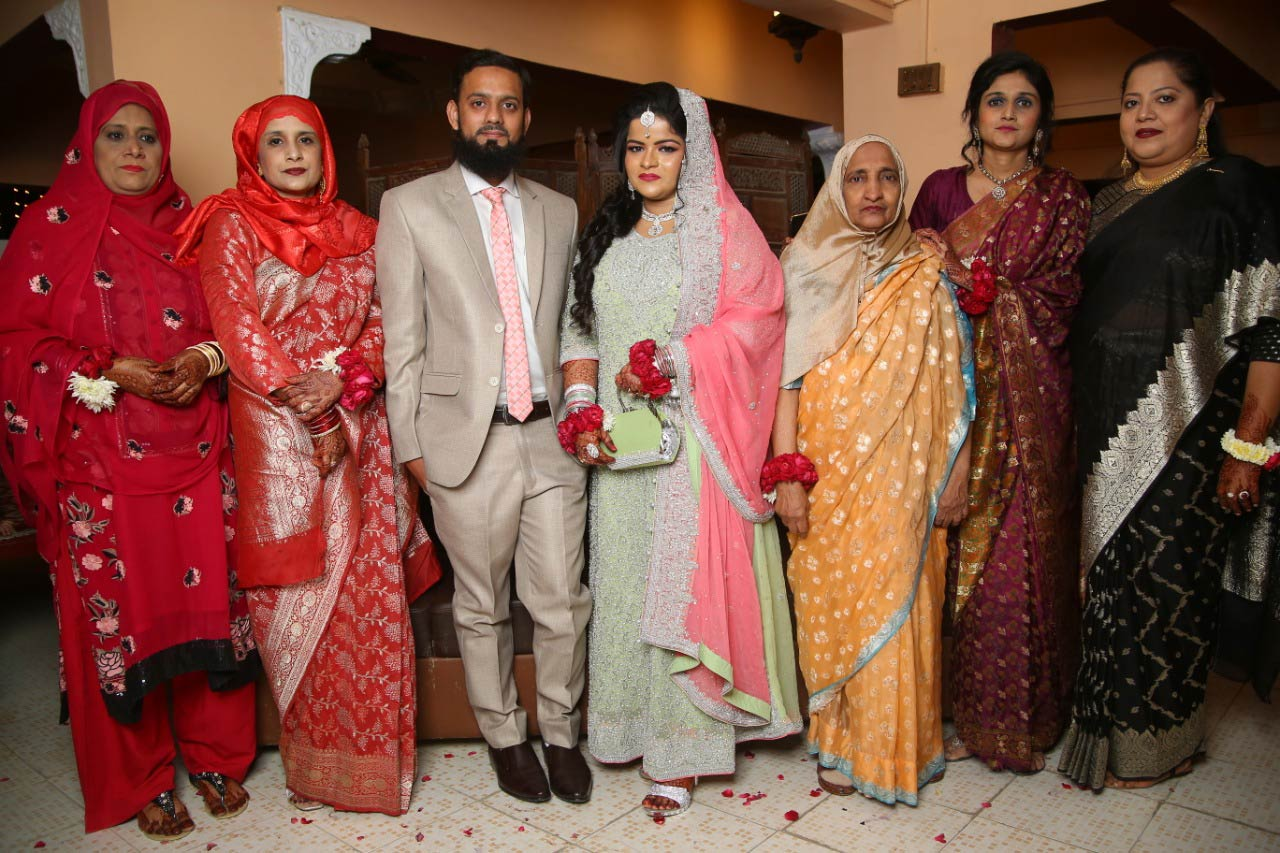 Zulaiqa Hameed, Afifa A. Bari (Mother of the Bride), Muhammad Zubair Sultani, Umaima Abdul Bari, Grandmother of the bride, Mrs.  Eraj, Dr. Kiran Ata Ur Rehman