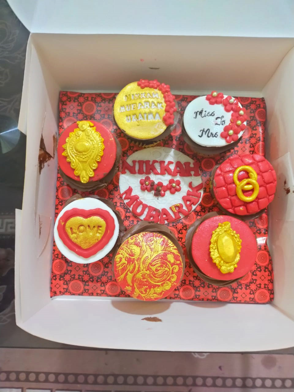 Nikkah Cupcakes gifted by Chachi