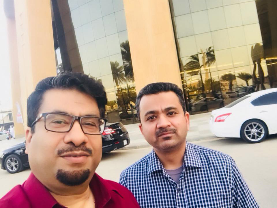 With my friend Dr. Saleem