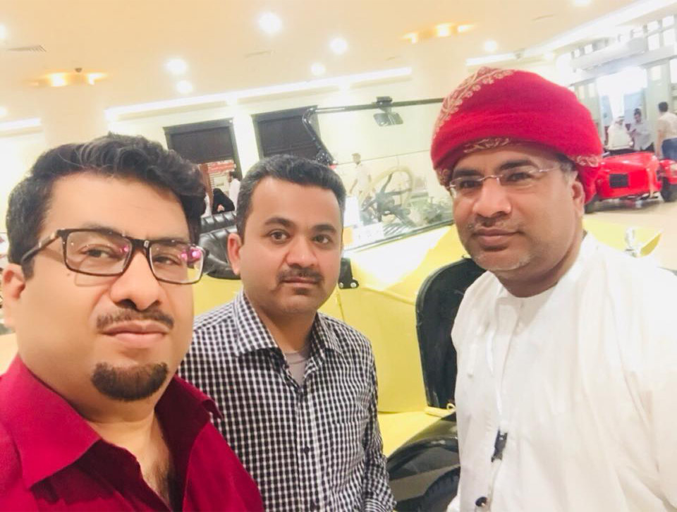 With Dr. Saleem and Mr. Elyas     AlZidjali from Oman...Classic car lover and famous racer