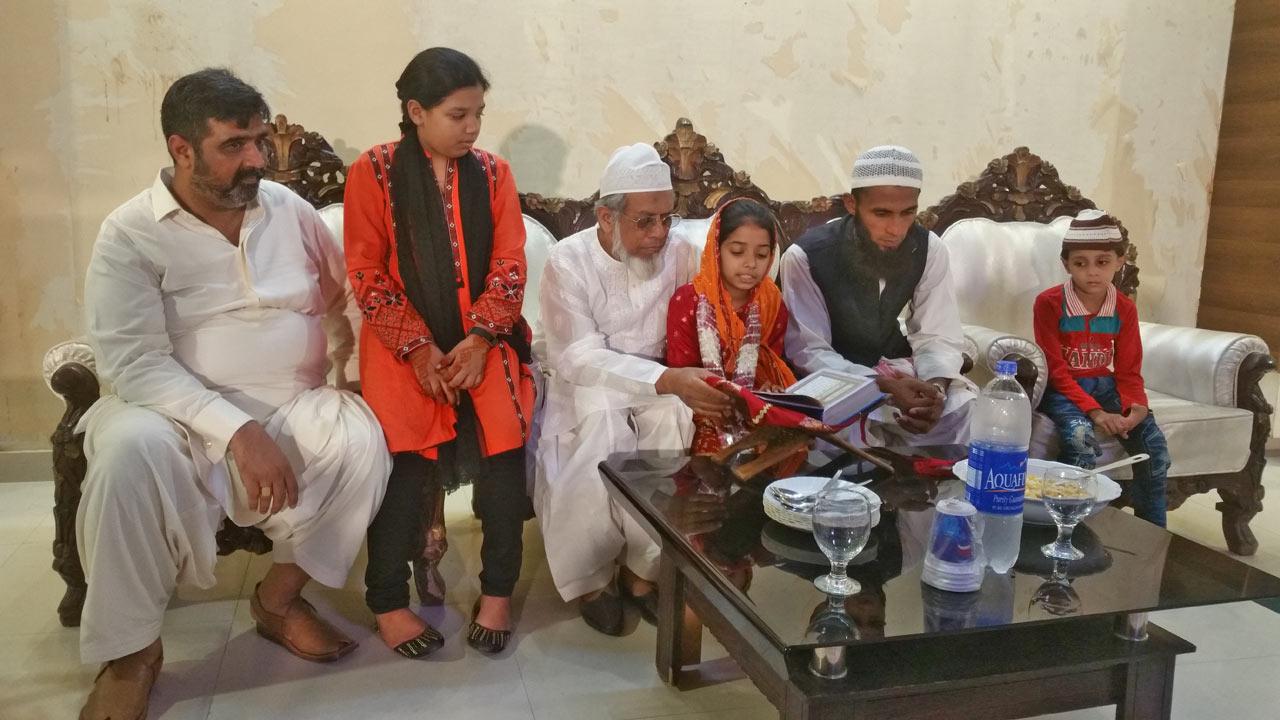 Imran A. Khan Ghouri, Zoya Imran, Engr. Iqbal A Khan , Zara Imran, Muhammad  Akram{Zara's Quran Tutor}and his son, Ahmed