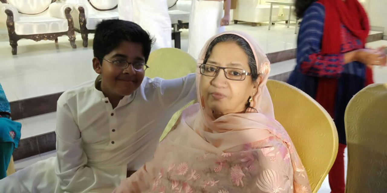 Habib Ur Rehman with Her Nani Mrs. Zohra Iqbal