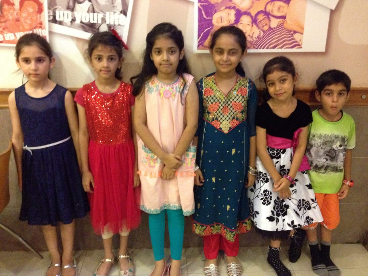 Zara Imran with her friends, Areesha Naseem, Maidah Amir, Khadija Faizan, Fatima Tahir, Furqan Tahir