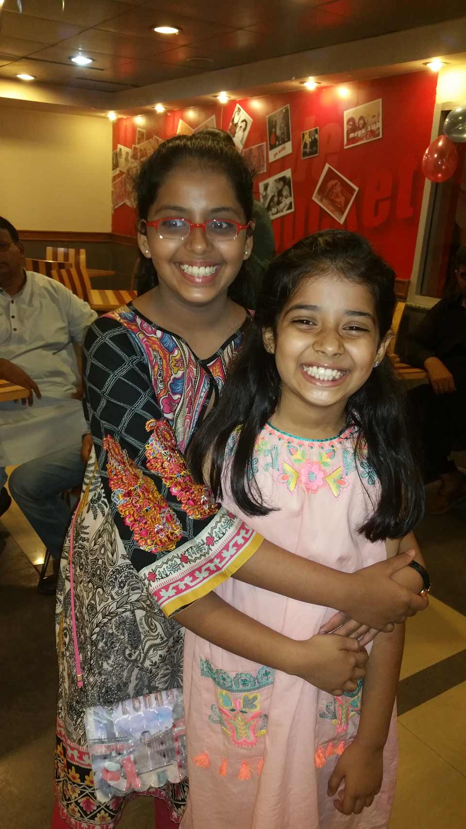 Zara with her cousin sister Maiam Ata Ur Rehman