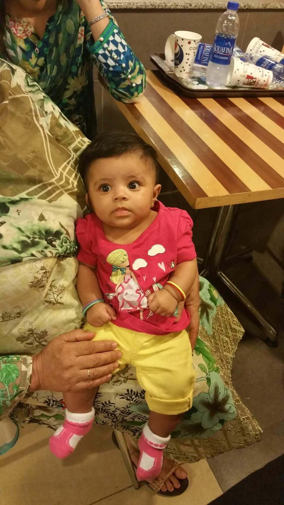 Baby Alishba Kashif from Bahrain