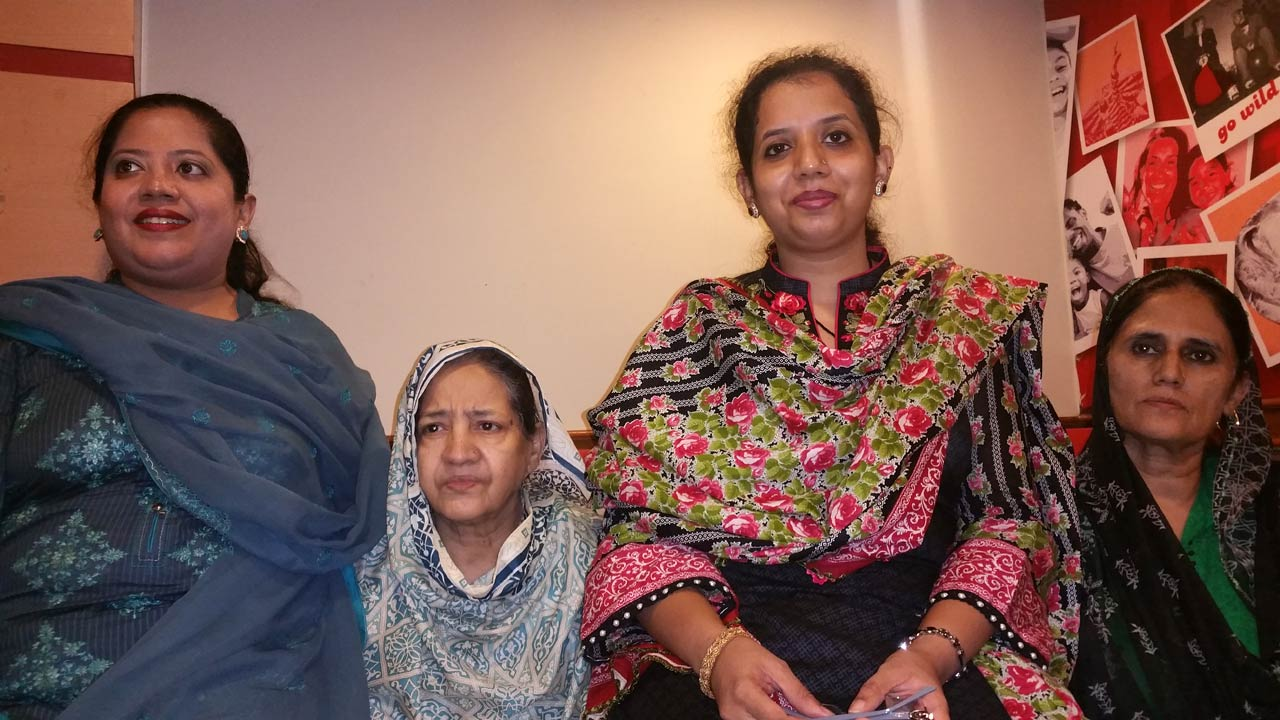 Dr. Kiran Ata Ur Rehman, Mrs. Zohra Iqbal, Erum Imran and Mrs. Rudaba Irshad